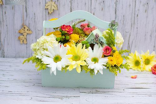 Arreglo Floral Birdhouse