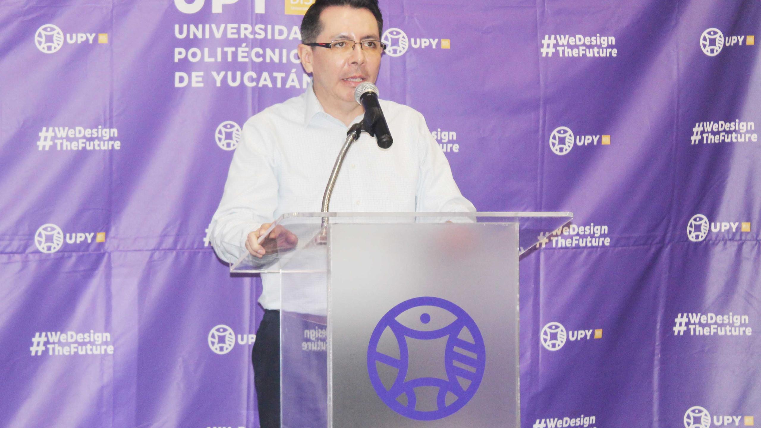 Dr. Gildardo Sánchez Ante, Rector de la Universidad Politécnica de Yucatán