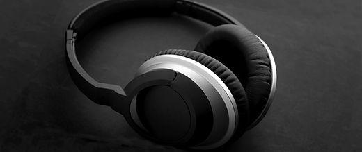 Schwarz und Silber Kopfhörer
