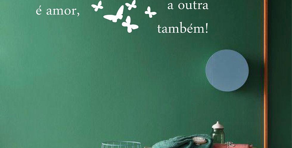 Adesivo Frase -METADE DE MIM
