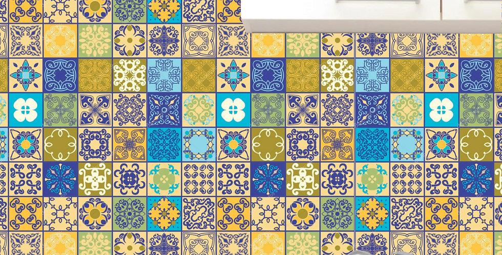 Papel de Parede Azulejo - AMARELADOS