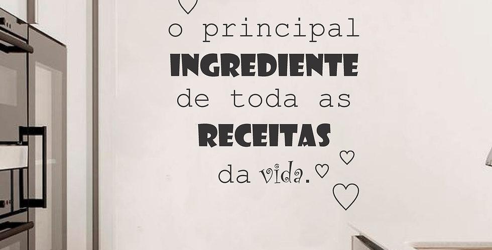 Adesivo Frase - AMOR O PRINCIPAL...