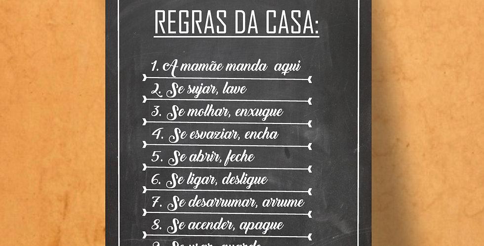 Qd REGRAS DA CASA I