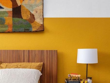 """""""7 maneiras e 21 inspirações para aplicar half painted nas suas paredes"""
