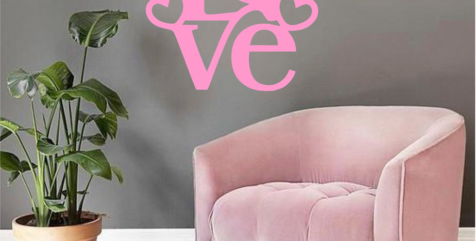 Adesivo Frase - LOVE