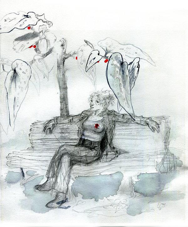 Femme sur un banc .jpg