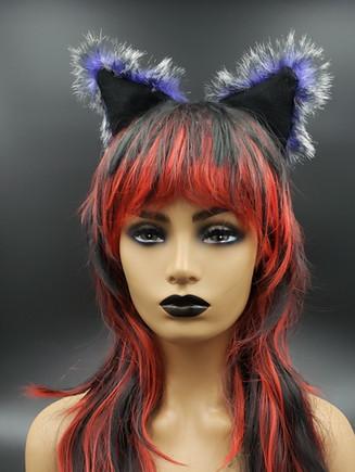 Purple Wolf cat ears