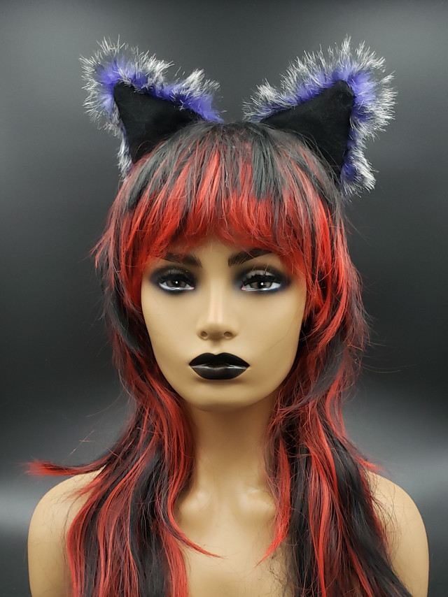 Purple Wolf cat ears