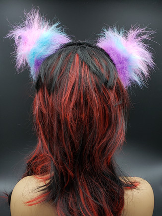 Cotton candy cat ears