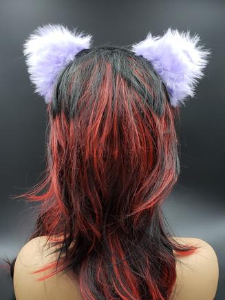 Pastel purple cat ears