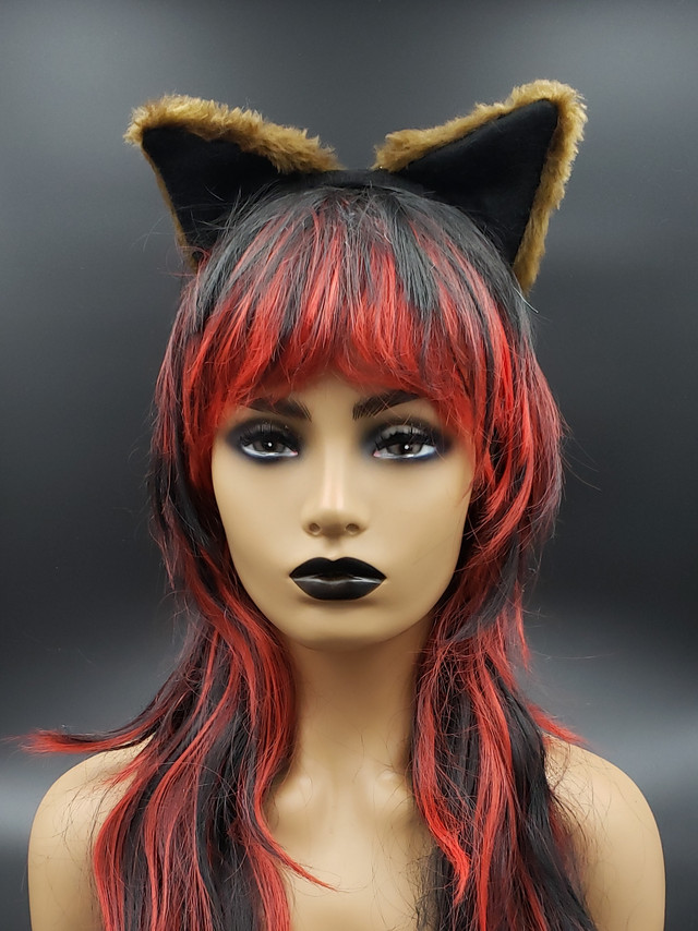 Brown cat ears