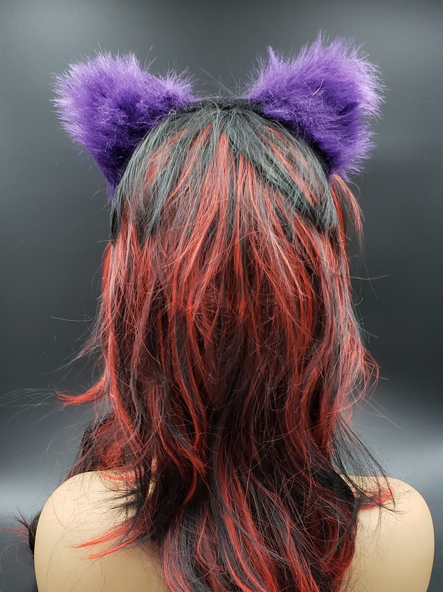 Purple cat ears