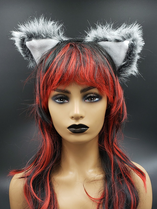 Gray cat ears
