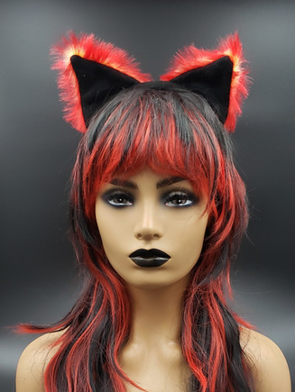 Red /yellow/ black cat ears