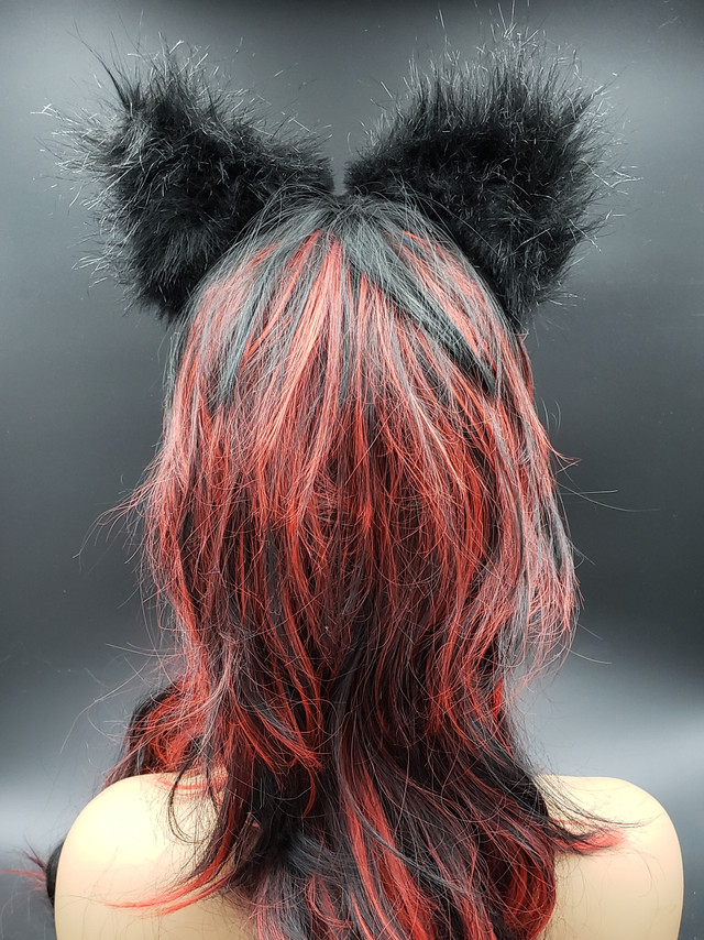Black with skulls cat ears
