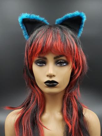 Teal cat ears
