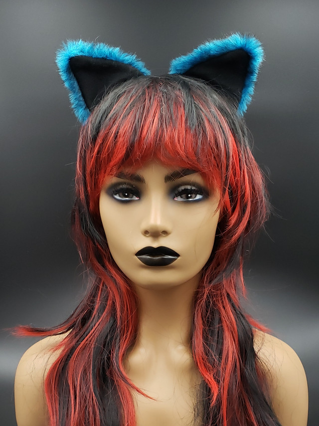 Teal cat ears