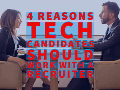 4 Reasons Tech Candidates Should Work with a Recruiter