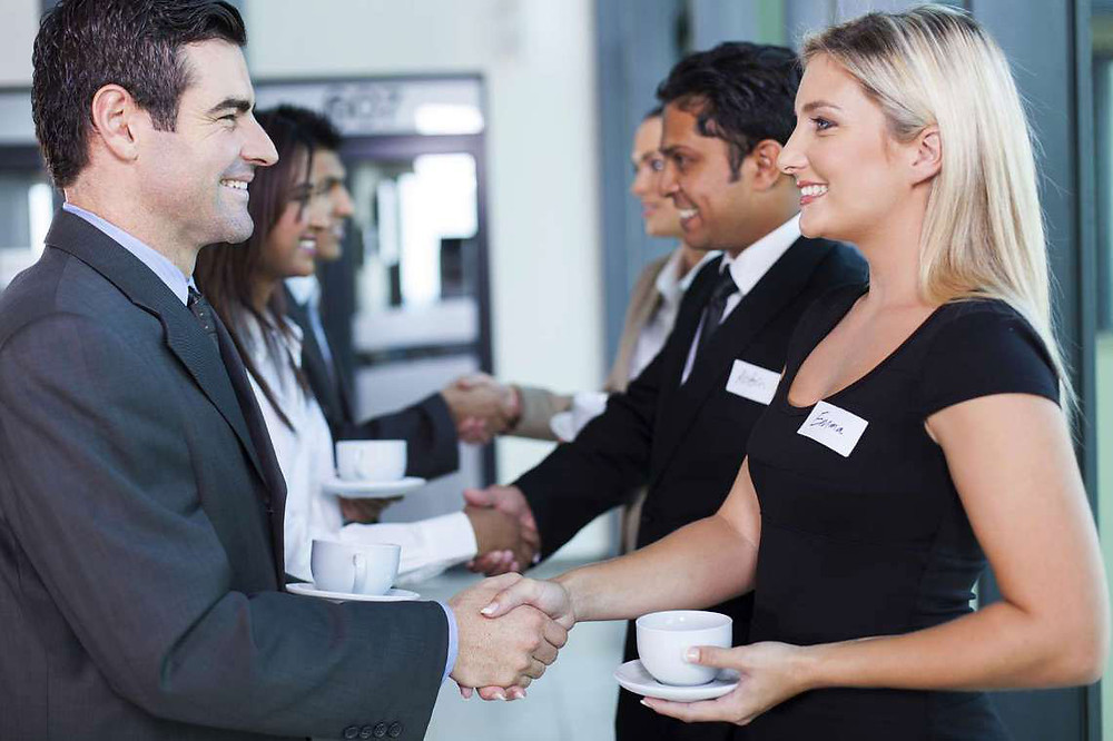 attractive young professionals networking