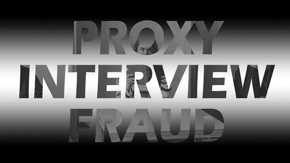 Proxy interview fraud - Girl looking over book in library