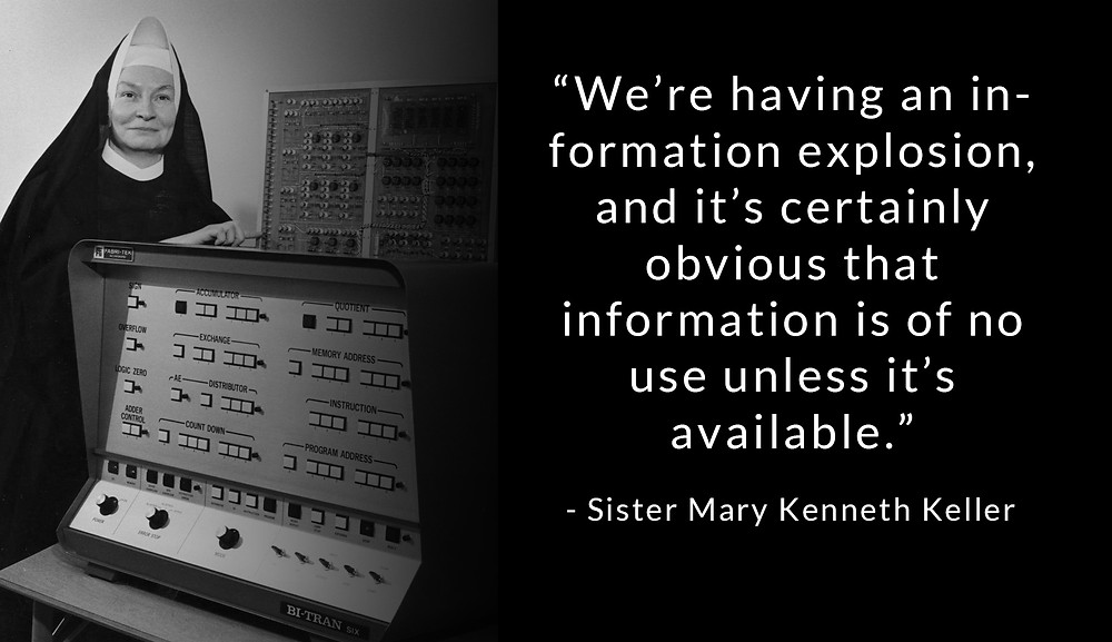 Sister Mary Kenneth Keller, first female to earn a Ph. D. - computer science, mathematics, physics