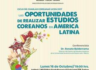 """Charla """"Las Oportunidades de Realizar Estudios Coreanos en América Latina"""""""