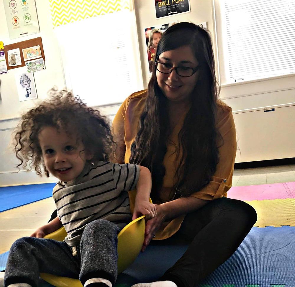 My son at Kindermusik with Gina