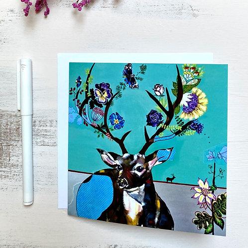 """""""Deer one"""" GREETING CARD"""