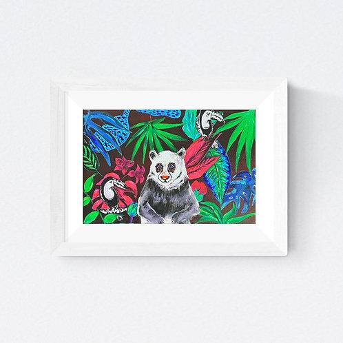 """Happy Panda"" SIGNED FINE ART PRINT"