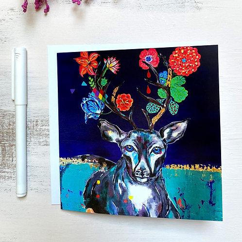 """""""Deer Two"""" GREETING CARD"""