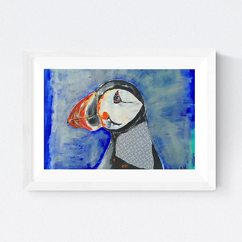"""Stylish Puffin"" SIGNED FINE ART PRINT"
