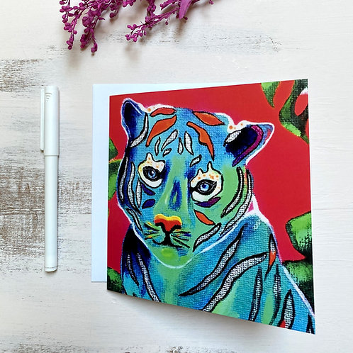 """Tiger"" GREETING CARD"