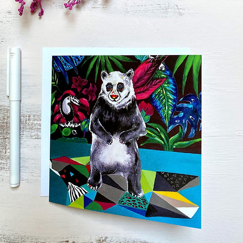 """Happy Panda"" GREETING CARD"