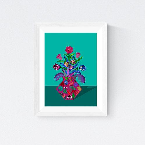 """"""" Floral Escape """" SIGNED FINE ART PRINT"""