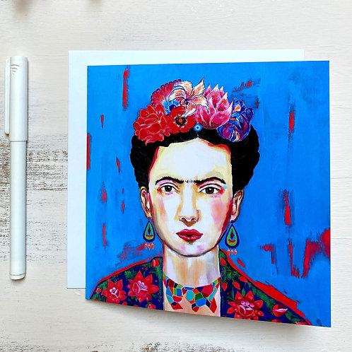 """Frida"" GREETING CARD"