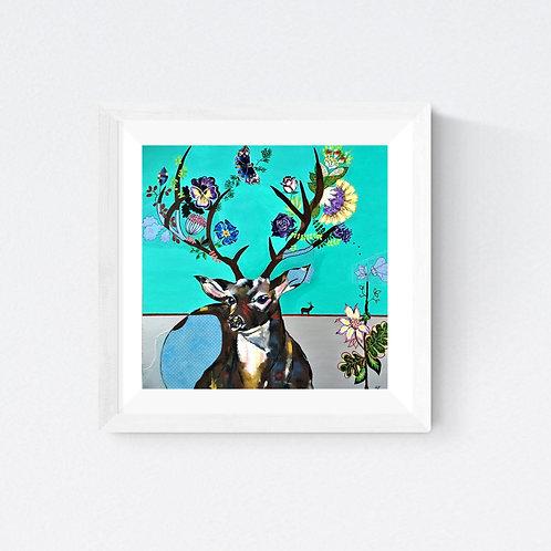 """Deer one"" SIGNED FINE ART PRINT"