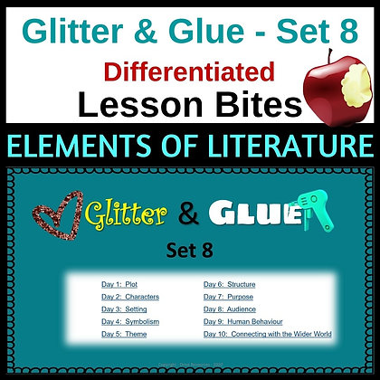 Glitter and Glue Lesson Bites - Set 8 - Elements of Literature