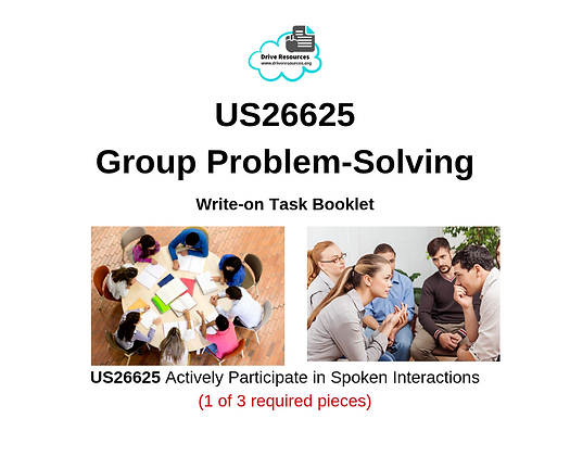 US26625 Speaking - Group Problem-Solving - Work It
