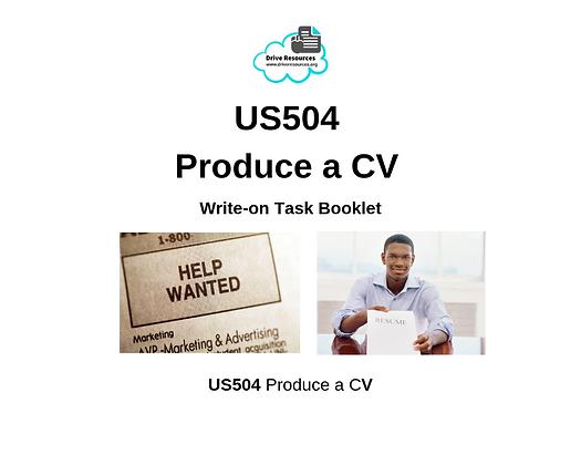 US504 Produce a CV - Work It