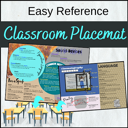 Classroom Placemat