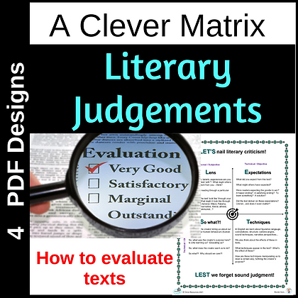 LETS make literary judgements