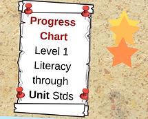 Progress chart level 1 literacy NZQA unit standards