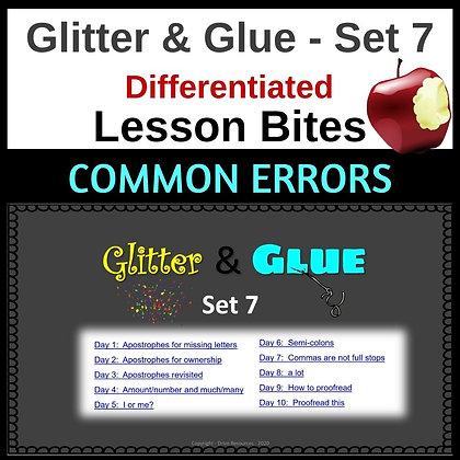 Glitter and Glue Lesson Bites - Set 7 - Common Errors
