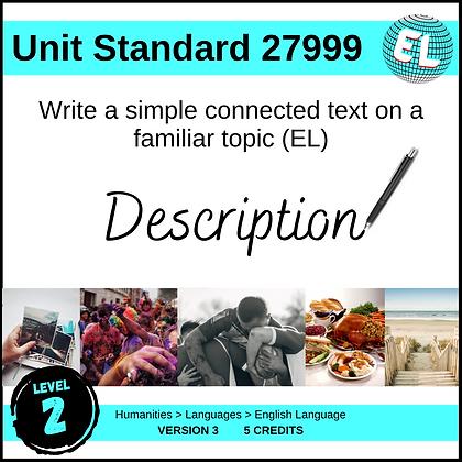 US27999 Write Simple Connected Text (EL - Level 2) - Description