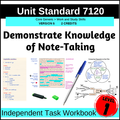 US7120 Demonstrate Knowledge of Note-taking