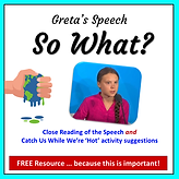 Comprehension activity on Greta Thunberg's speech to the UN Climate Action Summit