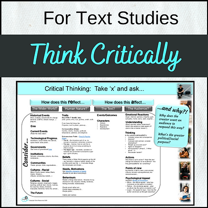 Think Critically about TEXTS - What's reflected? what's affected?