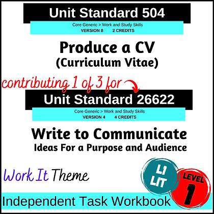 US504 Write a CV and US26622 Writing