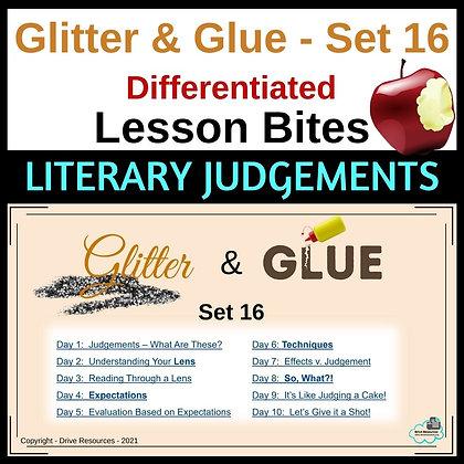 Glitter and Glue Lesson Bites - Set 16 - Making Judgements