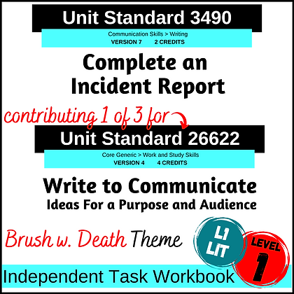 US3490 Complete Incident Report and US26622 Writing